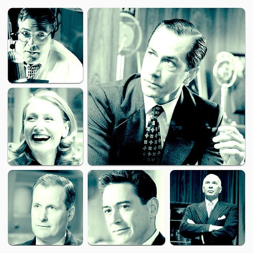 David Strathairn, George Clooney, Patricia Clarkson, Robert Downey Jr., Jeff Daniels, Frank Langella