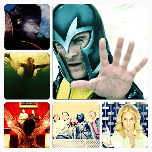 Michael Fassbender, Jennifer Lawrence, January Jones, James McAvoy