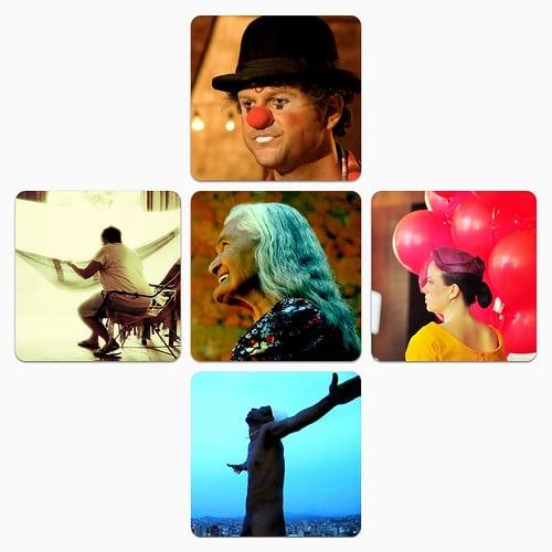 O Céu sobre os Ombros, Girimunho, O Palhaço, Riscado, Mãe e Filha