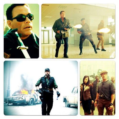 Sylvester Stallone, Arnold Schwarzenegger, Bruce Willis, Jean-Claude Van Damme, Chuck Norris
